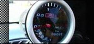 Install a boost gauge