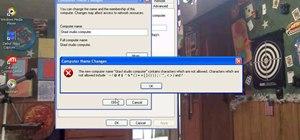 Change workgroup, name, & description on Windows XP