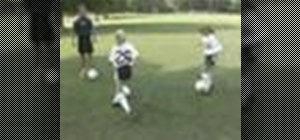 Master  soccer dribbling with young players