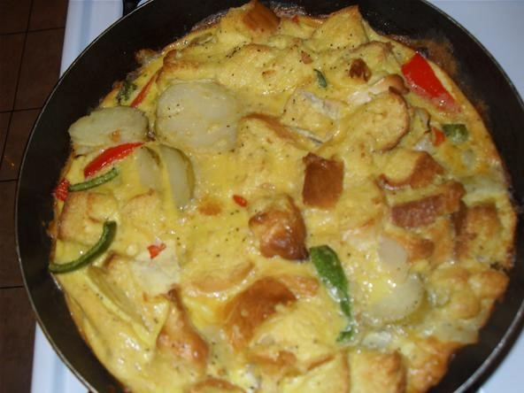Potato And Red-Pepper Frittata Recipe — Dishmaps