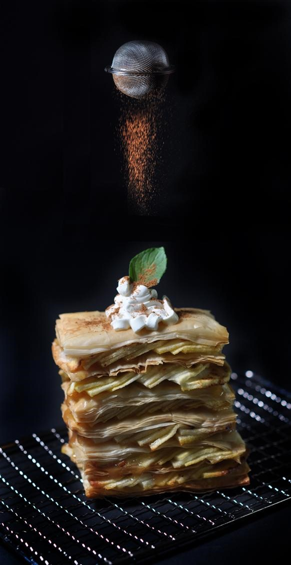 Apple Napoleon With a Splash of Drama