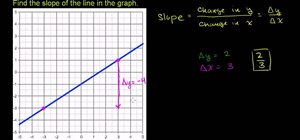 Find the slope of a line given a graph