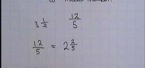 Convert top heavy fractions to mixed numbers