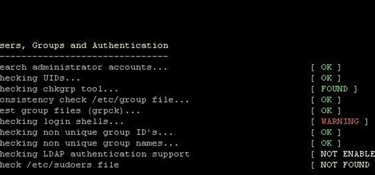Find Your Computer's Vulnerability Using Lynis