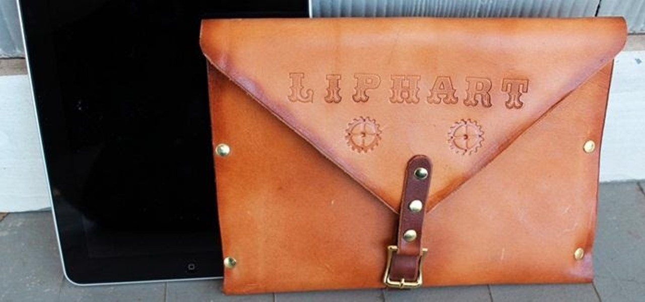 Make a Super-Simple Steampunk iPad Case Out of Leather