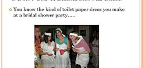 Make a toilet paper wedding dress