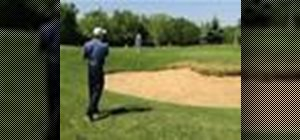 Pitch a golf ball over a bunker
