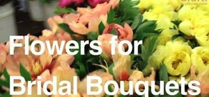 Choose the right flowers for your wedding bouquet