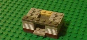 Construct a working LEGO miniature soda machine