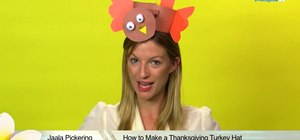 Craft a fun turkey hat for Thanksgiving