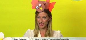 Craft a fun turkey hat for Thanksgiving