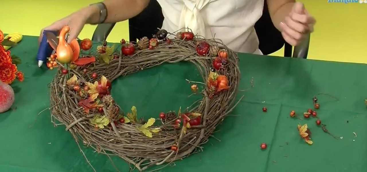 Create a Thanksgiving Themed Wreath for Your Door or Decoration