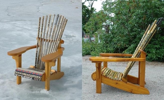do it yourself hockey stick chair