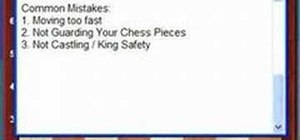 Avoid common chess mistakes