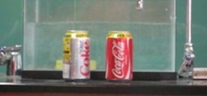 Compare Coke and Diet Coke's density