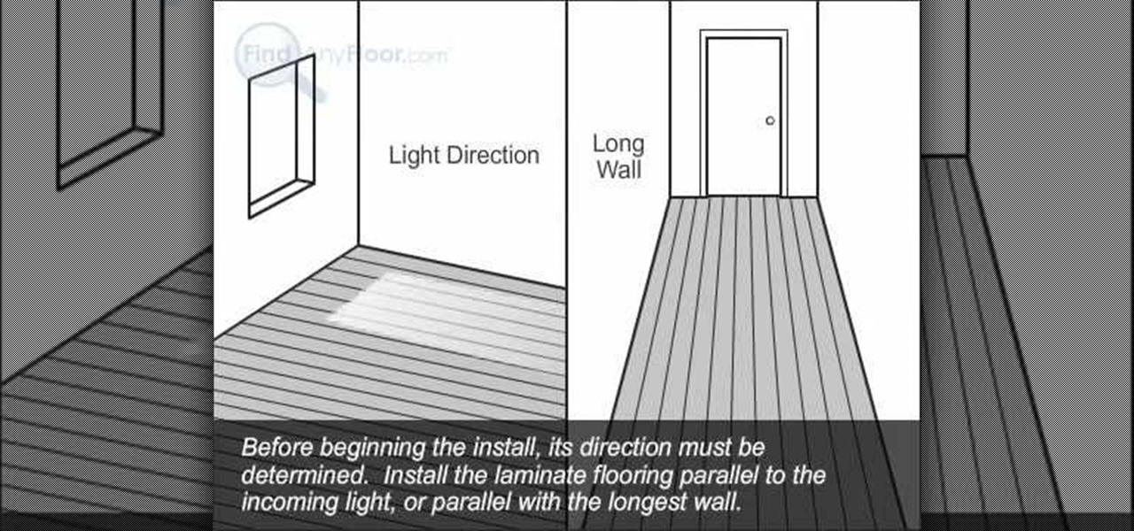 How To Install Laminate Flooring With The Glueless Method Interior Design Wonderhowto