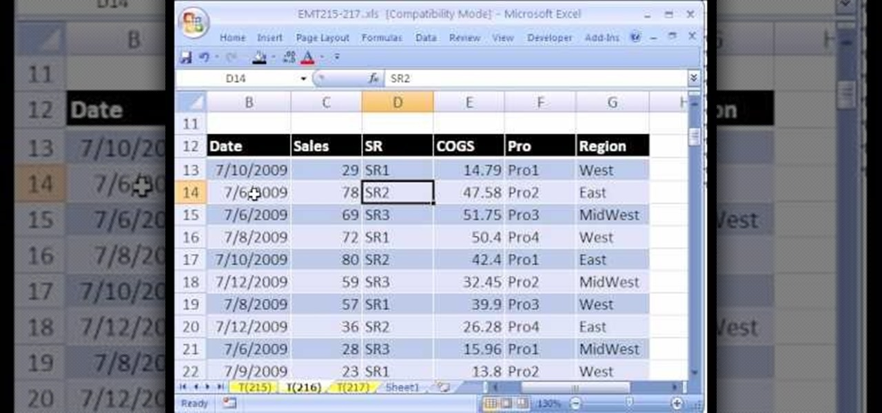 How To Create An Excel Pivot Table With 4 Variable Tabulation « Microsoft  Office :: WonderHowTo