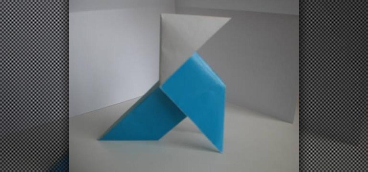 How To Fold A Paper Pajarita Origami Bird From Heavy Rain WonderHowTo