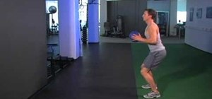Work your chest with medicine ball chest passes