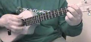 "Play a basic ukulele chord progression in ""A"""