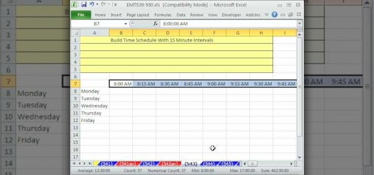 Excel Loan Template