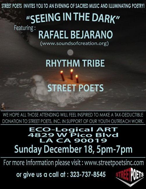"Seeing in the Dark ""Street Poet Event"""