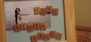 Customize a Picture Frame with Scrabble Letters