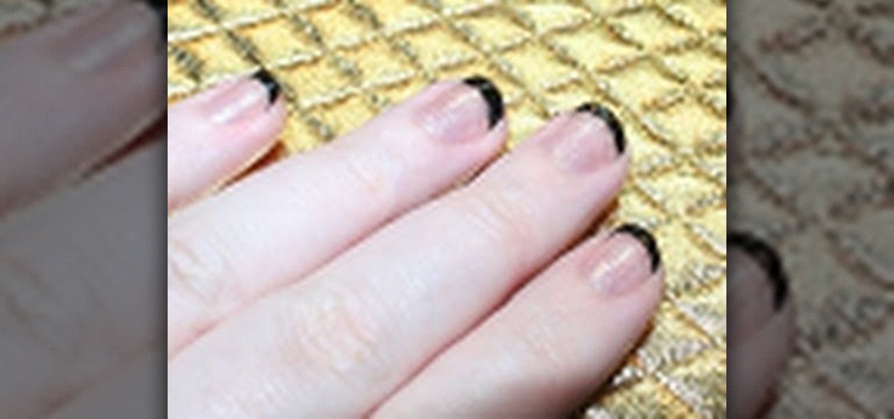 How to Create a black and white reverse French manicure « Nails ...