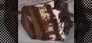 Make chocolate raspberry ruffle cake