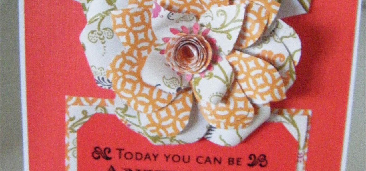 Make a Textiles Modern Flower Card