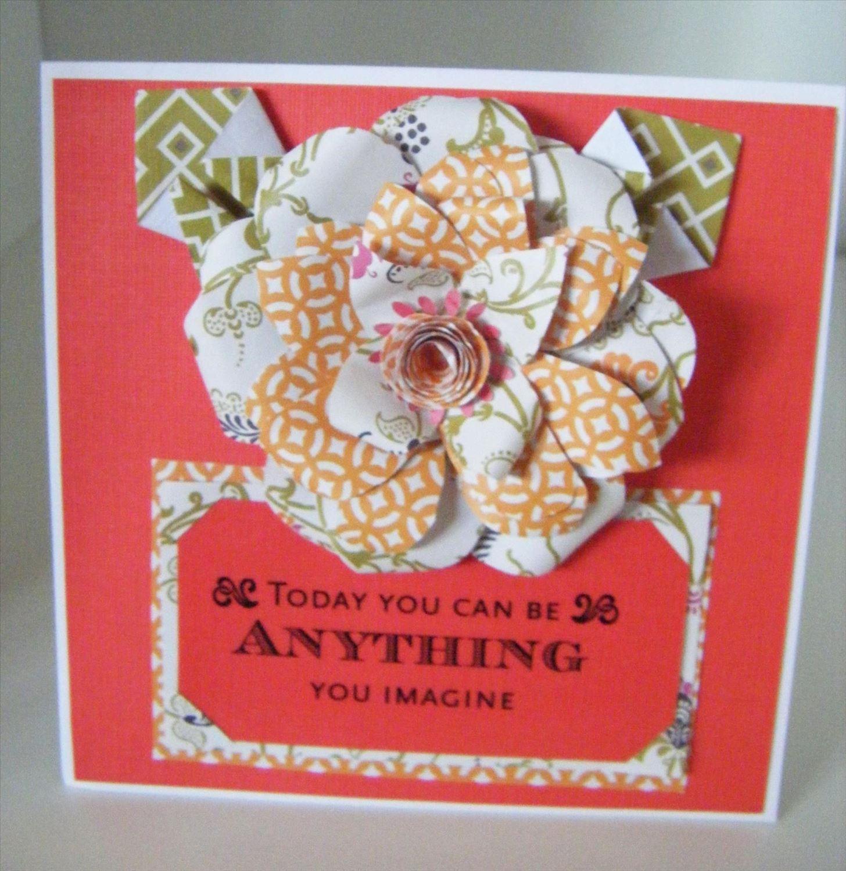 How to Make a Textiles Modern Flower Card