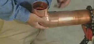 Solder copper pipes