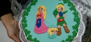Princess Zelda & Link baby shower cake