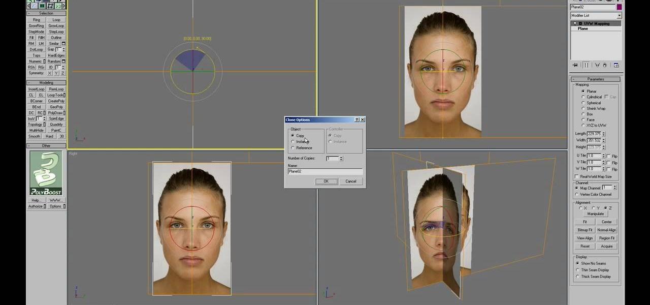 How to model a 3d human head using 3d studio max for 3d studio max models