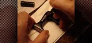 Carve a miniature antique Singer sewing machine