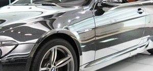 Make chrome paint on black cars using Photoshop