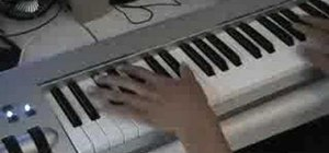 Play a gospel run on piano