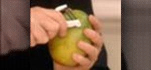 Peel and slice mango, kiwi and passion fruits