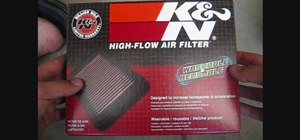 Replace the stock air filter on a Ninja motorcycle