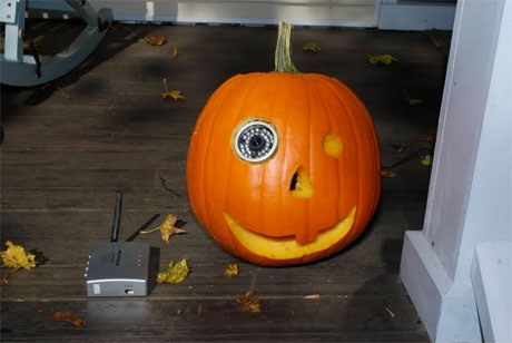 Catch Pranksters on Halloween Night with a DIY Surveillance Pumpkin