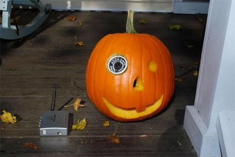 Catch Pranksters on Halloween Night with a DIY Surveillance Pumpkin