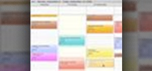Manage schedules using calendar in Entourage: Mac 2008