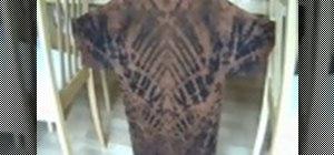 Discharge dye a T shirt