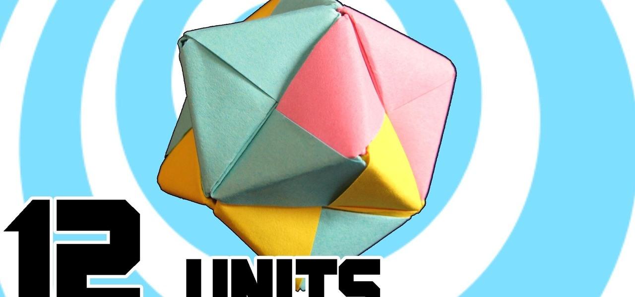 Make Modular Origami Octahedron 12 Sonobe Units