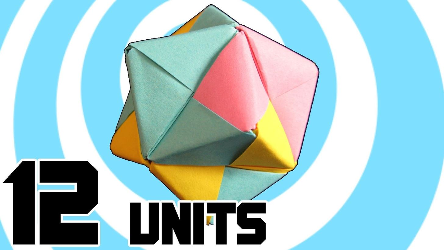Modular Origami How To Make A Cube Octahedron Icosahedron From Free Diagrams Instructing You Fold Unit Models 12 Sonobe Units