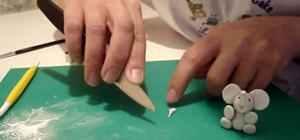 Create an elephant out of sugarpaste and CMC