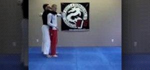 Do a jiu jitsu shoulder throw move