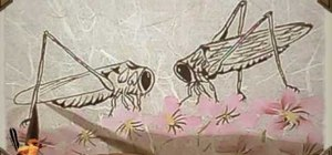 Draw romantic crickets - Chinese brush painting