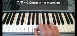 Play slash chords on the piano