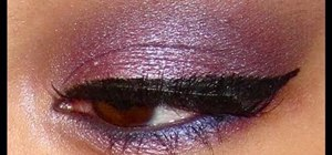 Create sultry amethyst smoky eyes using drugstore products